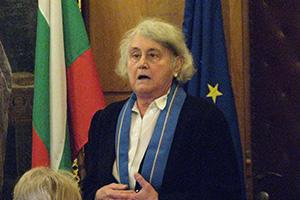Връчване на Синя лента на доц. д-р Анна Николова, 1 декември 2010 г.